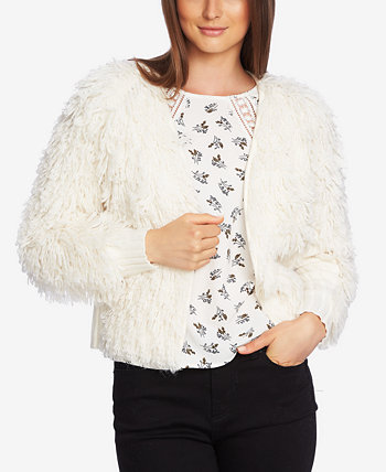Textured-Knit Open-Front Cardigan 1.STATE