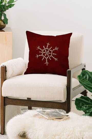 Chelsea Victoria Snowflake No 2 Square Throw Pillow Deny Designs