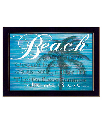 "Take Me There By Cindy Jacobs, Printed Wall Art, Ready to hang, Black Frame, 14"" x 10"" Trendy Décor 4U"