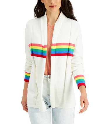 Cotton Striped Cardigan, Created for Macy's Style & Co