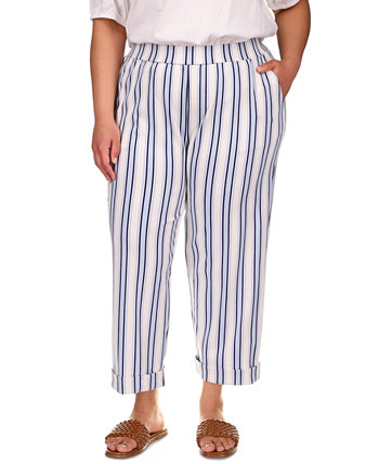 Plus Striped Rolled Cuff Pant Michael Kors