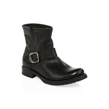 Veronica Leather Moto Boots Frye