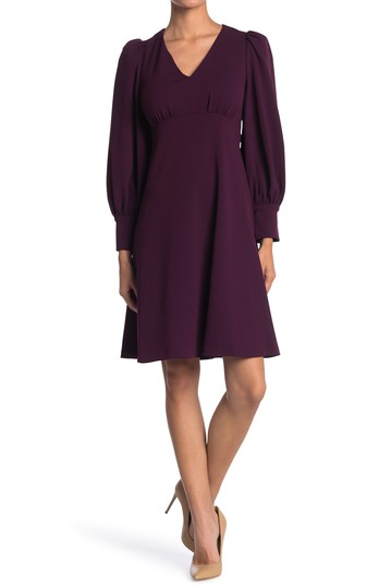 Puff Sleeve Empire Waist Dress Calvin Klein