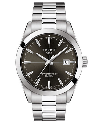 Men's Swiss Automatic Gentleman Powermatic 80 Silicium Stainless Steel Bracelet Watch 40mm Tissot