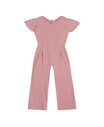 Big Girls Rib Knit Jumpsuit with Tie Back Detail Rare Editions