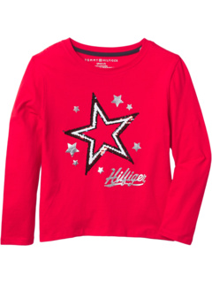 Tommy Sequin T-Shirt (Big Kids) Tommy Hilfiger Kids