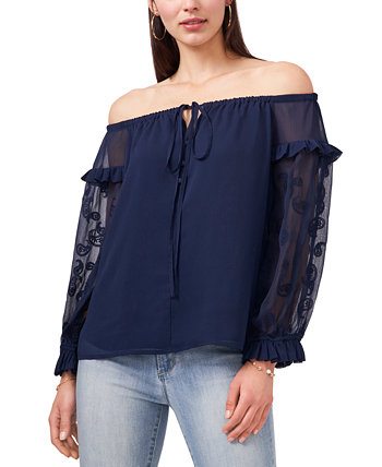 Petite Off-The-Shoulder Peasant Top Vince Camuto