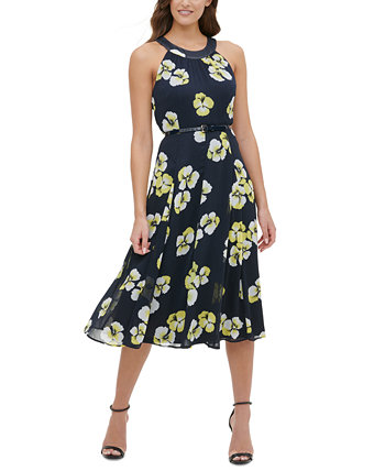 Belted Floral-Print Dress Tommy Hilfiger