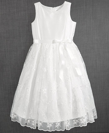 Blush by Embroidered Communion Dress, Little Girls Us Angels