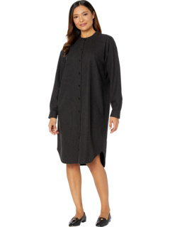 Mandarin Collar Shirtdress Eileen Fisher