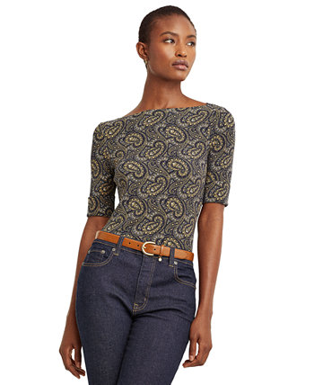 Paisley Cotton-Blend Top Ralph Lauren
