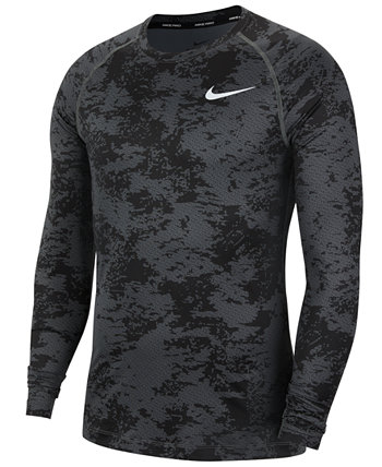 Men's Pro Long-Sleeve Camo Shirt Nike