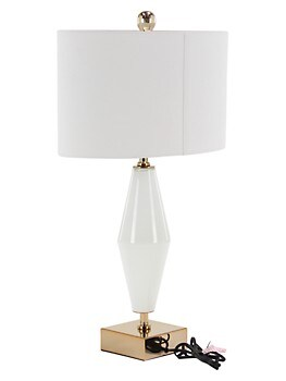 Modern Glass and Iron Tapered Table Lamp Primrose Valley