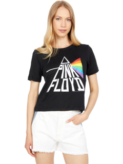 """""""Pink Floyd - Prism"""" Linen Jersey Cropped Short Sleeve Easy Tee Chaser"""