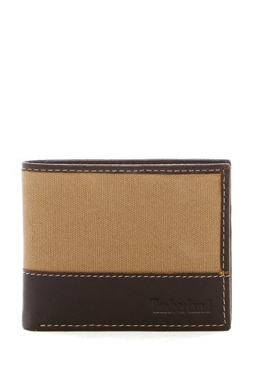 Baseline Canvas Leather Passcase Wallet Timberland