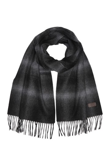 Ombre Plaid Cashmere Scarf Hickey Freeman