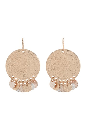 Two Tone Molten Mini Disc Earrings AREA STARS