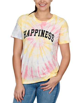 Juniors' Happiness Graphic-Print T-Shirt Rebellious One