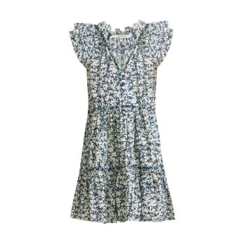 Zee Floral Ruffle Dress VERONICA BEARD