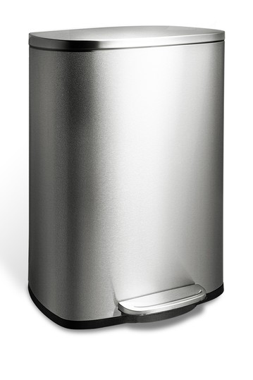 50L Stainless Steel Pedal Trash Can NINESTARS