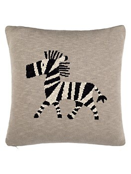 Baby's Zebra Graphic Cotton Throw Pillow Safavieh