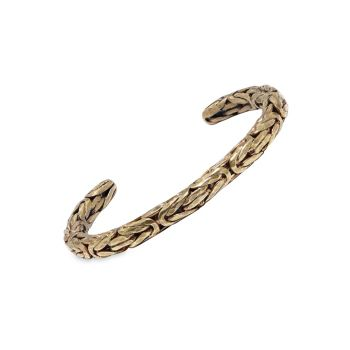 Braid Brass Open Cuff Bracelet John Varvatos
