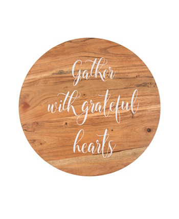 """16"""" Lazy Susan - """"Gather with Grateful Hearts"""" THIRSTYSTONE"""