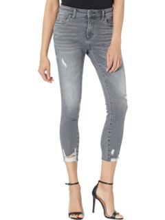 Petite Connie High-Rise Ankle Skinny w/ Raw Hem in Braver KUT from the Kloth