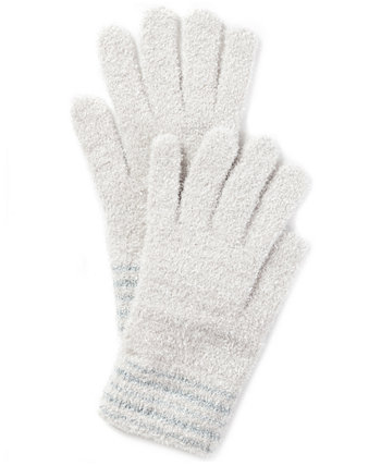Striped-Cuff Chenille Gloves, Created for Macy's Charter Club