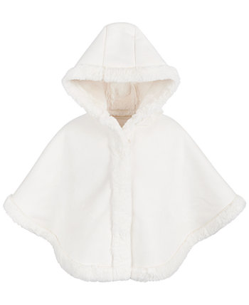 Baby Girls Faux-Shearling Cape, Created for Macy's First Impressions