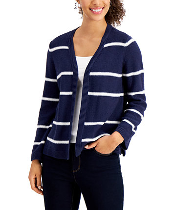 Striped Cardigan, Created for Macy's Charter Club