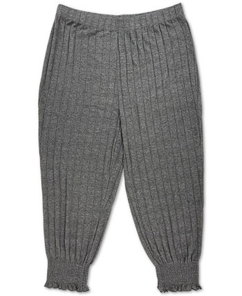 Trendy Plus Size Smocked-Cuff Joggers FULL CIRCLE TRENDS