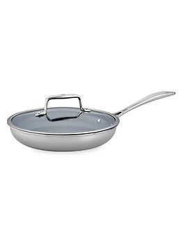 Clad CFX 2-Piece Stainless Steel & Non-Stick Ceramic Fry Pan Set ZWILLING J.A. Henckels