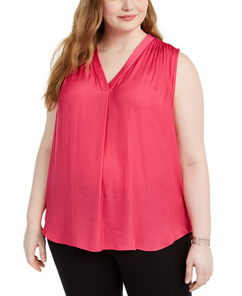 Plus Size V-Neck Sleeveless Blouse Vince Camuto