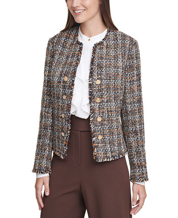 Tweed Cropped Jacket Calvin Klein
