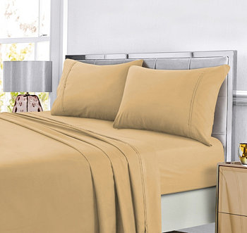 Super Soft Solid DP Easy-Care Extra Deep Pocket Twin XL Sheet Set Tribeca Living