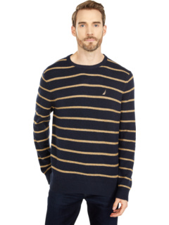Sustainably Crafted Stripe Crew Neck Sweater Nautica