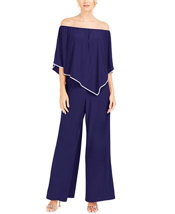 Off-The-Shoulder Overlay Jumpsuit MSK
