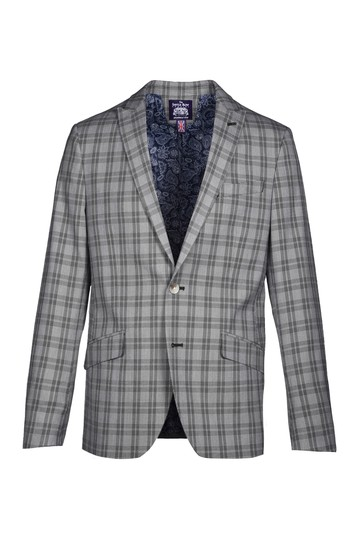 Пиджак от Glen Plaid с отворотом Slim Fit SAVILE ROW CO
