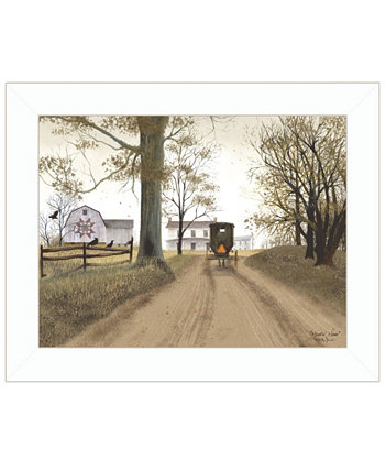 "Headin Home by Billy Jacobs, Ready to hang Framed Print, White Frame, 19"" x 15"" Trendy Décor 4U"