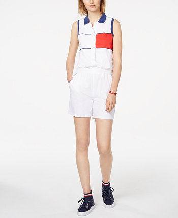 Sleeveless Polo Romper Tommy Hilfiger