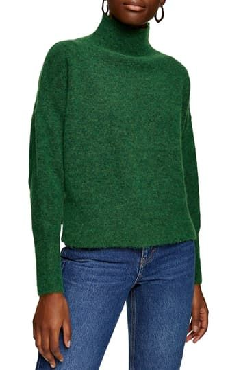 Textured Funnel Neck Sweater TOPSHOP