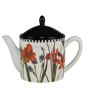 Botanical Floral Teapot Certified International