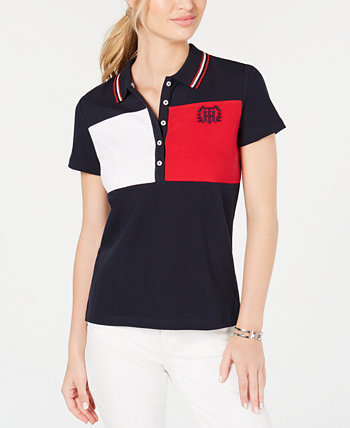 Short-Sleeve Colorblocked Polo Top, Created for Macy's Tommy Hilfiger