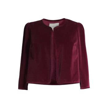 Scarlet Velvet Jacket Lafayette 148 New York, Plus Size