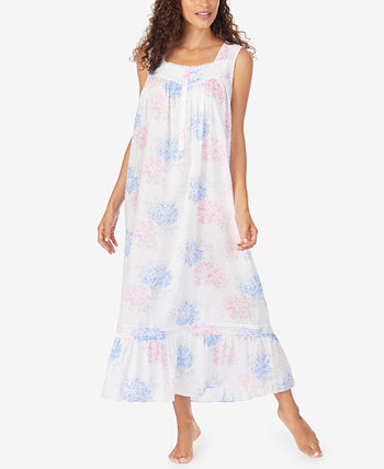 Cotton Floral Print Ballet-Length Nightgown Eileen West