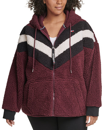 Plus Size Fleece Zip-Up Hoodie Tommy Hilfiger