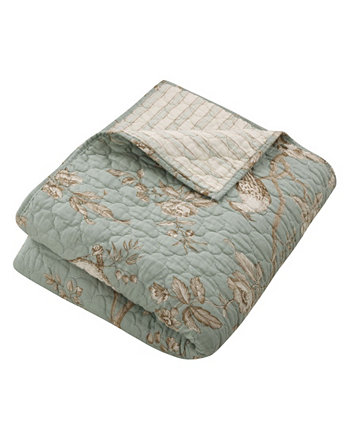 Lyon Toile Reversible Quilted Throw Levtex