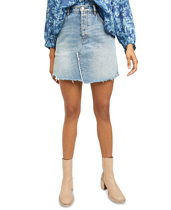 Brea Cut Off Denim Skirt Free People