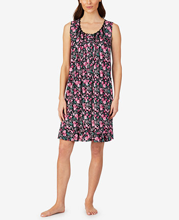 Floral-Print Jersey Nightgown Eileen West